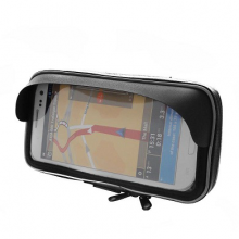 Чехол для смартфона 80x148 мм с козырьком креп. на руль