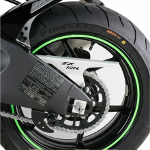 Наклейка на колесный диск 980681GRN зеленая