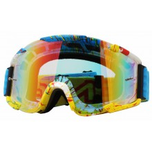 Очки ONEAL B2 RL Goggle SPRAY голуб/радиум