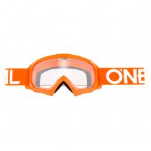 Маска кроссовая O'NEAL B-10 Youth, детская, оранжевый, прозрачная линзы