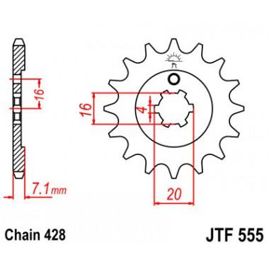 Звезда ведущая JTF 555.14