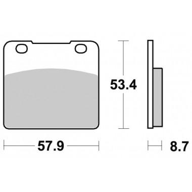 Тормозные колодки SBS 577HS