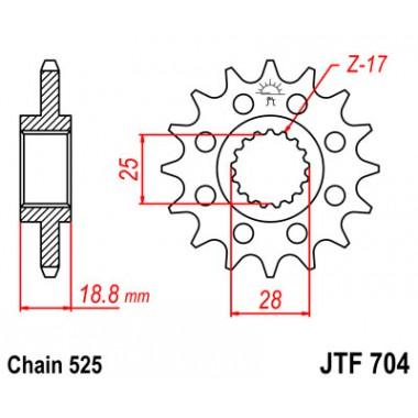 Звезда ведущая JTF 704.16