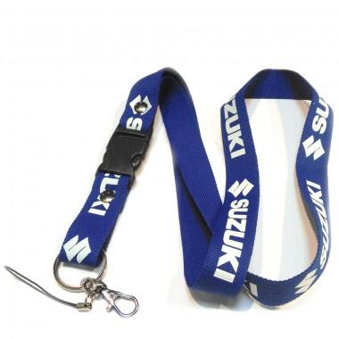 Шнурок SUZUKI синий/белый