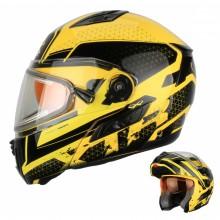 Шлем снегоходный XTR MODE1 Blitz желтый с электростеклом XL