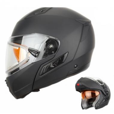 Шлем снегоходный XTR MODE2 черный мат с электростеклом 4XL
