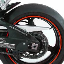 Наклейка на колесный диск (красная неоновая) PW 319-951