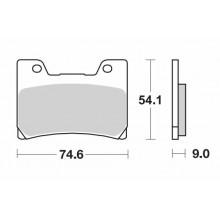 Тормозные колодки G-brake GM-02035S / SBS 645
