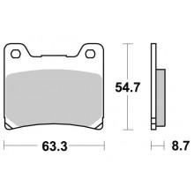 Тормозные колодки G-brake GM-02013S / SBS 555