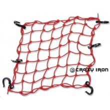 Сетка-паук с пластиковыми крючками REXWEAR 40х40 (Красная)