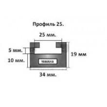 Склиз Garland 25-64.00-3-01-01 25 (64'') профиль  (Yamaha черн.)